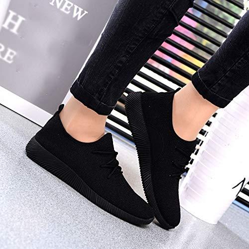Zapatillas Tejido Mujer Corta Ohq Boca Neopreno Gimnasia Negro Con De Color Para En Caramelo Transpirables Vuelo Naranjas dUAq6w