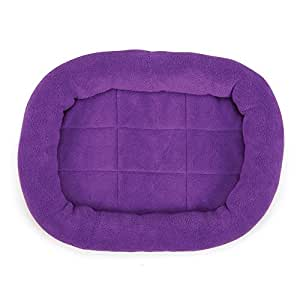 """Slumber Pet Bright Terry Crate Beds  -  Soft and Comfortable Brightly Colored Beds for Dogs and Cats - Large, 413/4"""" x 273/4"""", Purple"""