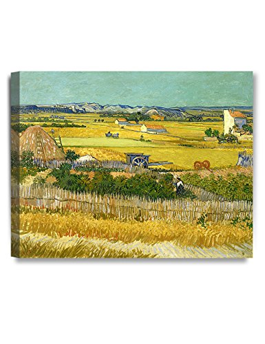 Gogh Van Harvest Vincent (DECORARTS The Harvest, Vincent Van Gogh Art Reproduction. Giclee Canvas Prints Wall Art for Home Decor 20x16)