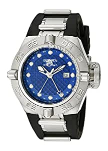 Invicta Men's 1155 Subaqua Noma IV GMT Blue Dial Black Polyurethane Watch