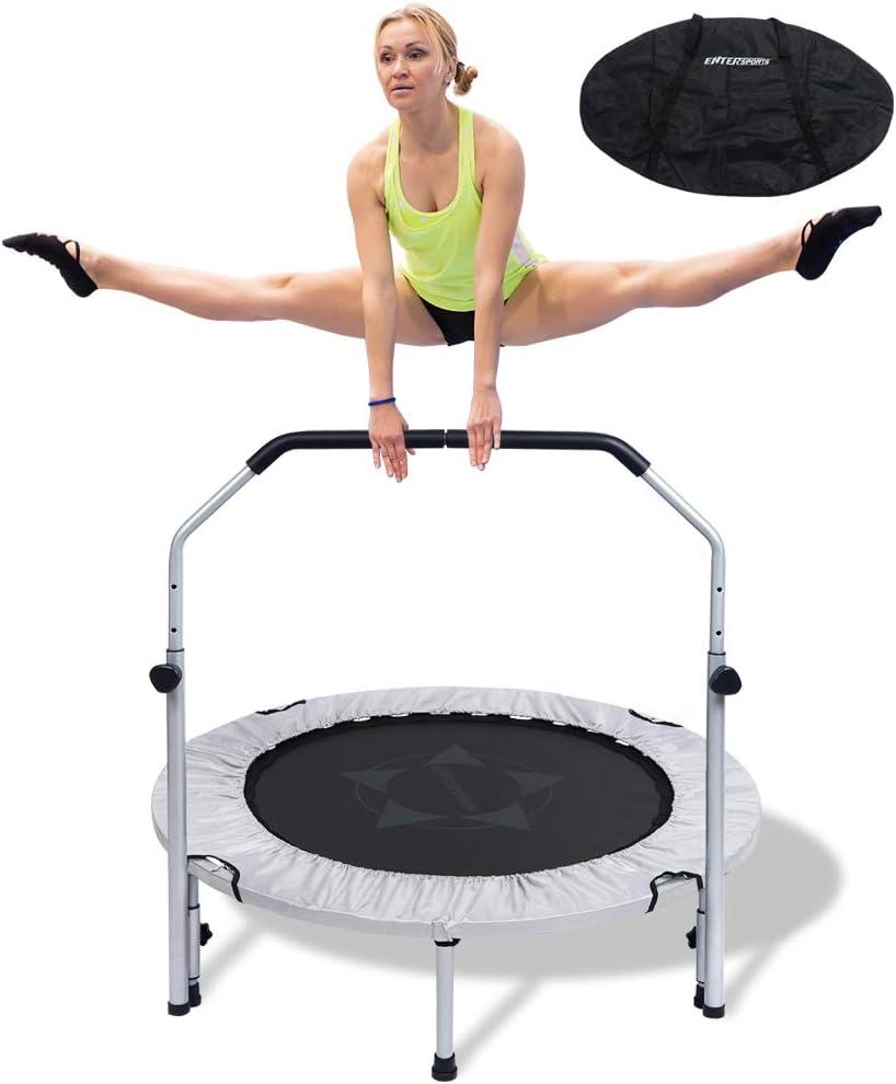 Foldable Fitness Trampoline Exercise Mini Rebounder Indoor Home Cardio Trainer
