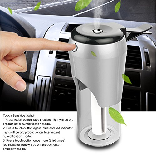 weike Car Humidifier Air Purifier Aroma Diffuser Aromatherapy Mist Maker Fogger with 2 USB Charger Port