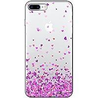 Capa Transparente Personalizada Para iPhone 7 Plus e iPhone 7 Pro Corações - TP167