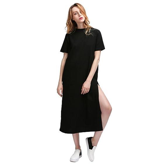 T shirt kleid lang schwarz