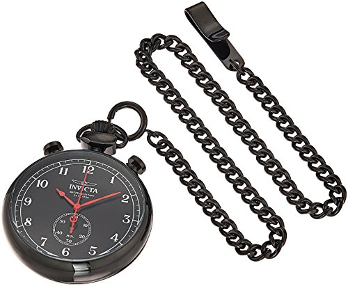 (Invicta Men's Vintage Quartz Watch with Stainless-Steel Strap, Black, 7.5 (Model: 19674))
