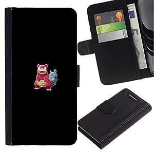 "A-type (Meter monstruo rojo cangrejo"") Colorida Impresión Funda Cuero Monedero Caja Bolsa Cubierta Caja Piel Card Slots Para Sony Xperia Z1 Compact / Z1 Mini (Not Z1) D5503"