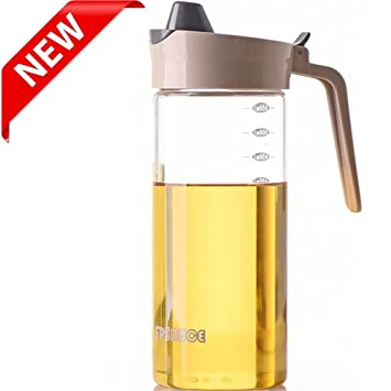 Merveilleux Marbrasse Drip Free Olive Oil Dispenser, Glass Salad Dressing Bottle,  Vinegar Dispensing Cruets,