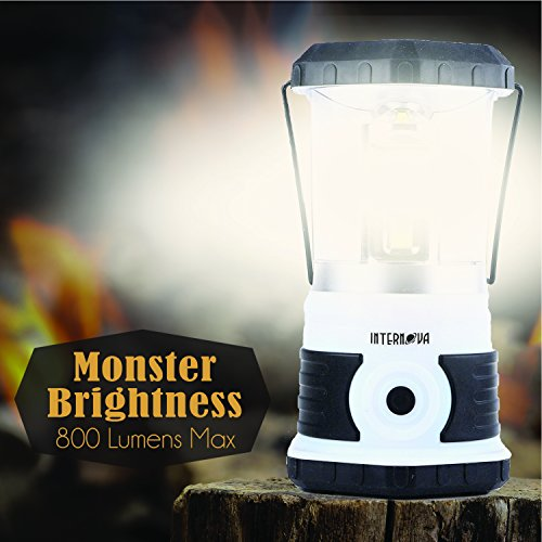 Internova Yeti 800 Monster LED Camping Lantern Massive Brightness with Tri Strip Lighting LED Lantern Emergency Backpacking Hiking Auto Home College (Himalayan White)