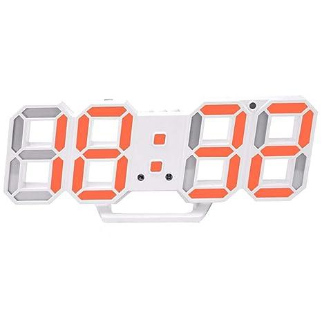 3D LED de Alarma del Reloj electrónico Luminoso Digital USB Reloj de Pared de energía Dígitos