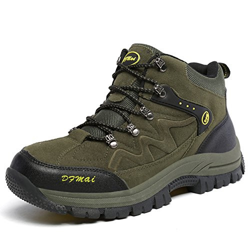 amp;Trekking Hiking Boots Size Men Mountaineering Climbing Outdoor Winter Top Shoes Big Green High Antiskid n5HawxBa