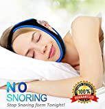 Anti Snoring Chin Strap, Most Security Effective Snoring Solution and Stop Snoring Chin Strap,Adjustable Anti Snoring Devices and Relief Chin Strap Mouth Breathers Sleep Aid for Men & Women