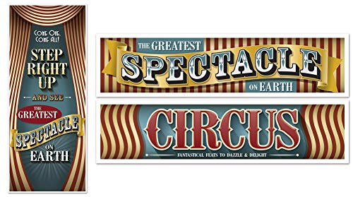 Vintage Circus Door Cover and Banners -