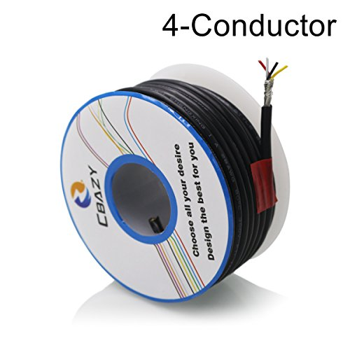 Conductor Shielded Audio Cable - CBAZY™ 2547 24 AWG Control Cable Copper Wire Shielded Audio Cable Headphone Cable Signal Line 4-core 6 Meter Black