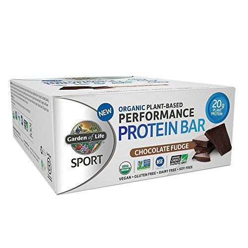 Garden of Life Organic Sport Protein Bar, Vegan, Chocolate Fudge, 12 Count