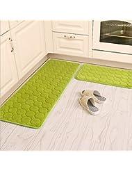 Charming Kitchen Rugs,CAMAL 2 Pieces Non Slip Memory Foam Kitchen Mat Rubber Backing  Doormat
