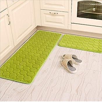 Amazon Com Kitchen Rugs Camal 2 Pieces Non Slip Memory