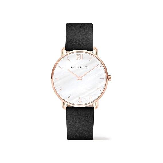 Paul Hewitt Reloj Analógico para Mujer de Cuarzo con Correa en Cuero PH-M-R-P-32S: Amazon.es: Relojes