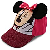 Disney Little Girls Minnie Mouse Character Cotton Baseball Cap, Age 2-7 (Toddler Girls - Age 2-4 - 51CM, Pink)