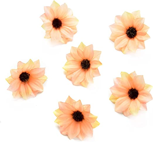 60-Pack Artificial Flower Heads Fake Daisy Flowers Wedding Party Decorations