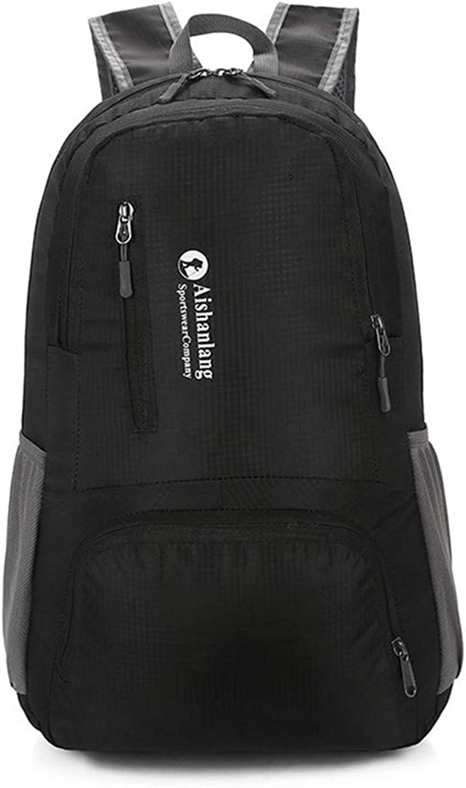Details about  /Travel Backpack Hiking Camping Unisex Daypack with Wet Pocket 40L Packable