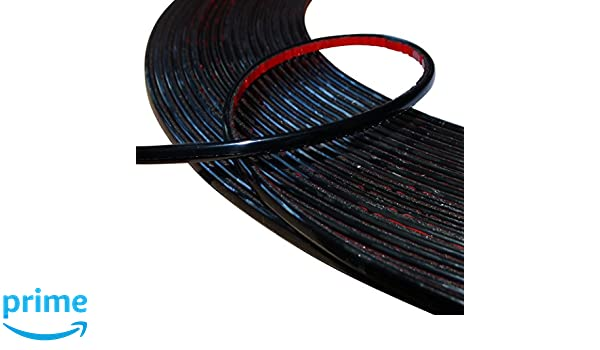 Aerzetix 6/mm 15/M cinta varita adhesiva color negro para Auto Coche Moto