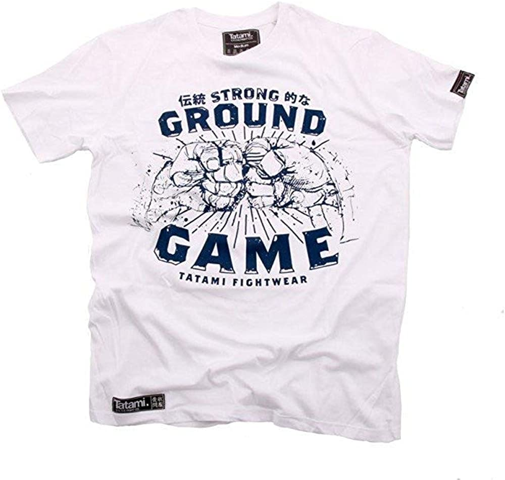 Tatami Rio T-Shirt Mens MMA BJJ Jiu Jitsu Black Casual Top