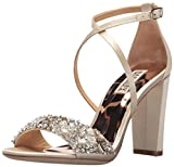 Badgley Mischka Women's Sandra Heeled Sandal, Ivory, 9 M US