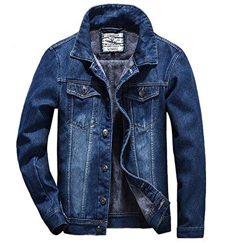 kemilove Fashion Autumn Winter Casual Mens Pocket Cotton Military Lapel Jacket