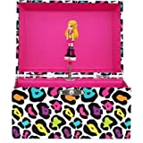 Girls Animal Print Diva Musical Jewelry Box