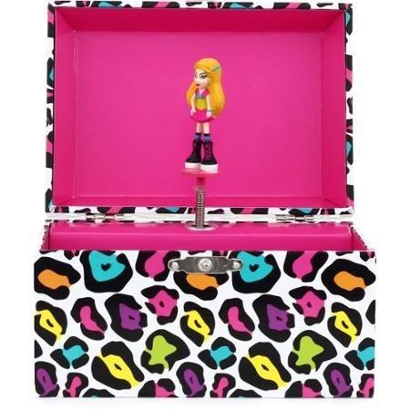 Girls Animal Print Diva Musical Jewelry Box