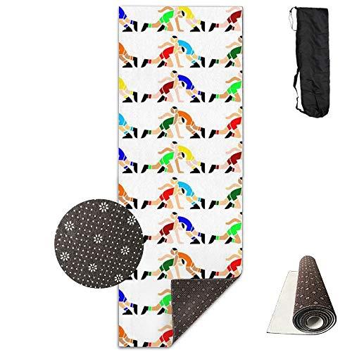 GVSOJA 70-Inch Long 28-Inch Wide Comfort Velvet Yoga Mat, Wrestling Wrestlers Mat Carrying Strap & Bag by GVSOJA