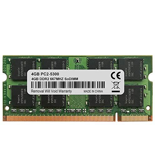 (FidgetGear 4GB 2RX8 PC2-5300 DDR2-667Mhz DDR2 200pin Sodimm Laptop Memory NonEcc)