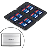 Honsky Aluminum UHS-I SD Micro SD SDHC SDXC TF SecureDigital Memory Card Carrying Case Holder Organizer Box Keeper for...