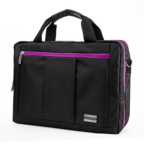 2n1 - portafolios y mochila para portátil Dell Latitude/XPS de 12,5', Negro púrpura, 12.5' - 13.3'