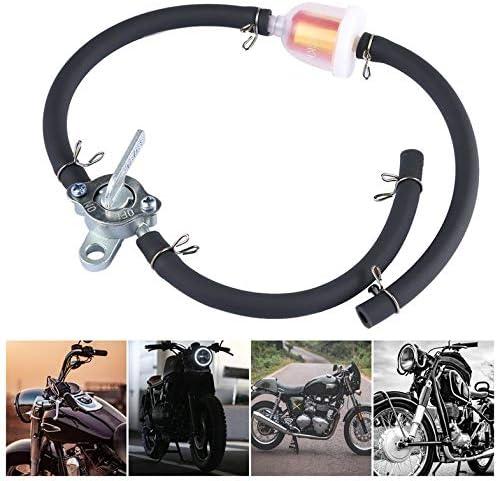 Filter Schlauch f/ür Pit Dirt Bike ATV Motorrad SUV Inline Kraftstofftankhahn Benzinhahn Splitter