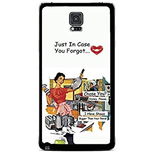 "Colorful Funny 60's Housewife Meme ""I Have Shoes Bigger Than Your P*nis."" Hard Snap on Phone Case (Note 4 IV)"