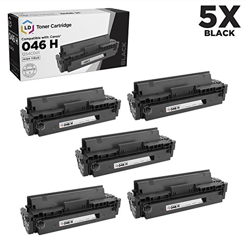 LD Compatible Canon 046H / 1254C001 Set of 5 High Yield Black Toner Cartridges for use in ImageCLASS MF735Cdw, LBP654Cfw, MF733Cdw, LBP654Cdw & MF731Cdw (6,300 Page Yield) -  CCA1254C001CTAPK5AMZ