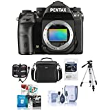 Pentax K-1 Digital SLR Camera Body - Bundle Camera Case, 32GB SDHC U3 Card, Tripod, Cleaning Kit, Memory Wallet, Software Package