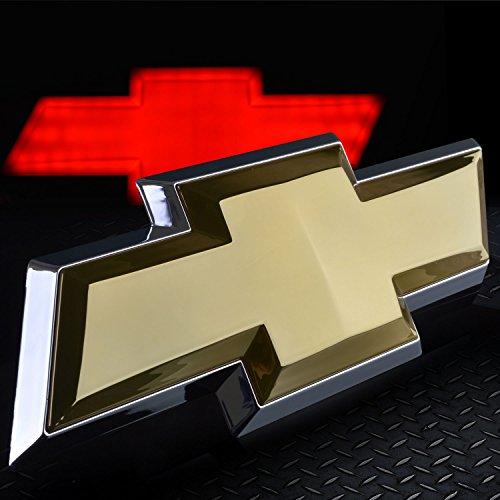 - Chevy Tailgate Emblem Chevy Bowtie Logo Chevrolet Silverado LED Lighted Emblem Chrome