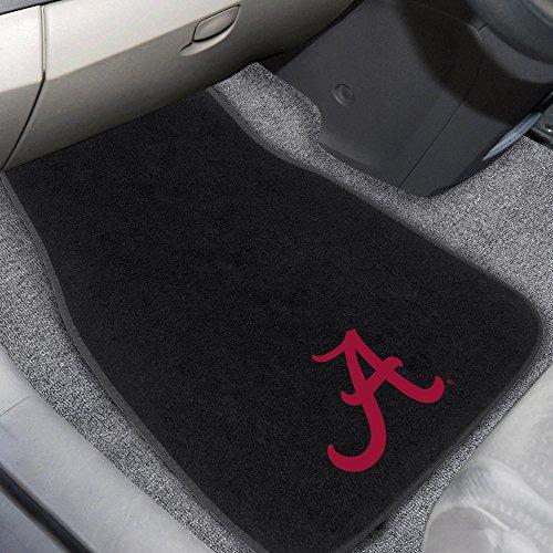 FANMATS 10351 Alabama 2-Piece Embroidered Car Mat