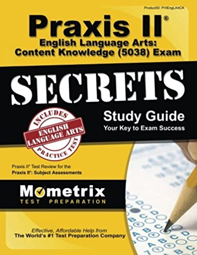 praxis ii english language arts content knowledge 5038 exam rh amazon com free praxis 5038 study guide praxis test 5038 study guide