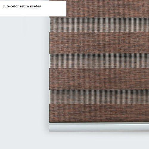 Custom Size Europe Quality Jute Zebra Blind Shades Max Width 93″