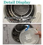 panda 265 cuft compact laundry dryer white