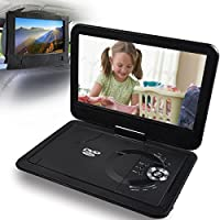 Portable DVD Player Rechargeable Battery 10.1 Ultra Thin NOAUKA Digital LCD Mobile Headrest DVD CD Player Multimedia Swivel Screen Portable DVD Monitor with Car Headrest Holder,Support USB TF Card