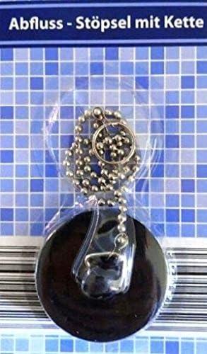 abflu/ß Bouchon 45,5/mm avec cha/îne noir bouchon Bouchon Lavabo