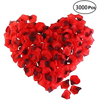 Blue Candle, Blue Petal Tatuo 50 Pieces Heart Shape Candles Romantic Tealight Candles and 200 Pieces Silk Rose Petals Artificial Flower Petals for Valentines Day Festival Wedding Birthday Party