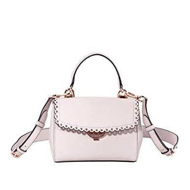95e42845386c7 Michael Kors Ava Extra-Small Scalloped Leather Crossbody- Soft Pink ...