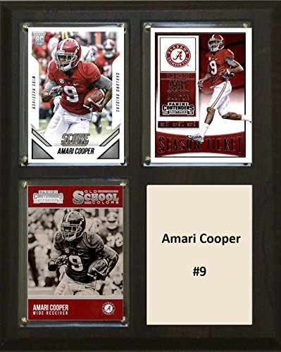 - C&I Collectables MLS Alabama Crimson Tide Men's Amari Cooper Three Card Plaque, 8