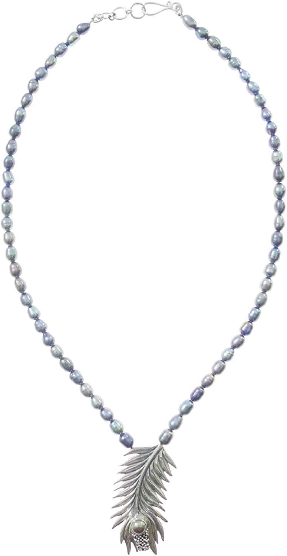TIBETAN SILVER Naturales Perlas Piedras Preciosas Collares Auténtico Plata De Ley 925 Collar con Colgante para Mujeres, Moderno Diseñador Moda Fiesta Regalo Collar Joyería Hecha A Mano Artesanos