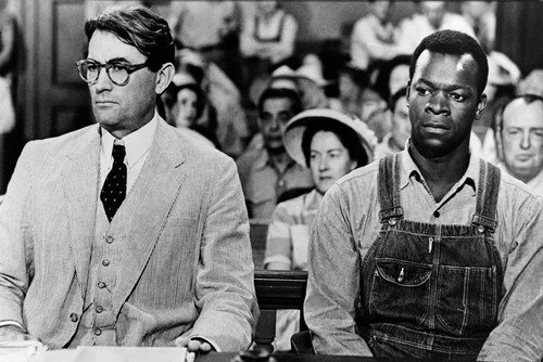 Brock Peters Gregory Peck To Kill A Mockingbird Court Room Scene 24x36 Poster (To Kill A Mockingbird Best Scene)